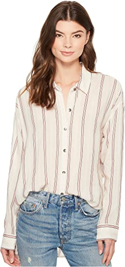 Splendid - Sailboat Stripe Button Down Boyfriend Shirt