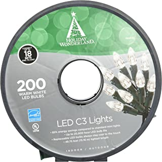NOMA/INMLITEN-IMPORT 47700-88A 0 200 Count, Warm White, C3, LED Light Set, Green Wire