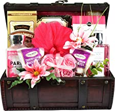 Paris Nights, Spa Gift Basket With Decadent Chocolates For Her To Enjoy While Pampering Herself