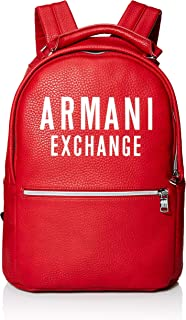 armani leather backpack mens