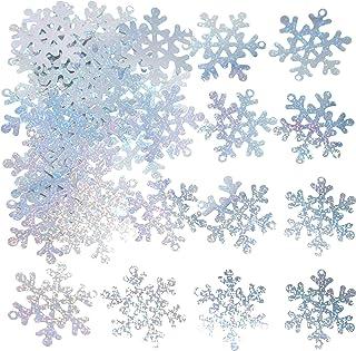 Silver Snowflakes Frozen Party Confetti - Winter Wonderland 1st Birthday Baby Shower Wedding Foil Metallic Sequins Table C...