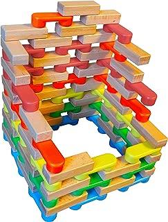 Magz Combo Bricks 80 Magnetic Building Blocks consisting of 40 Standard Bricks and 40 Wooden Bricks