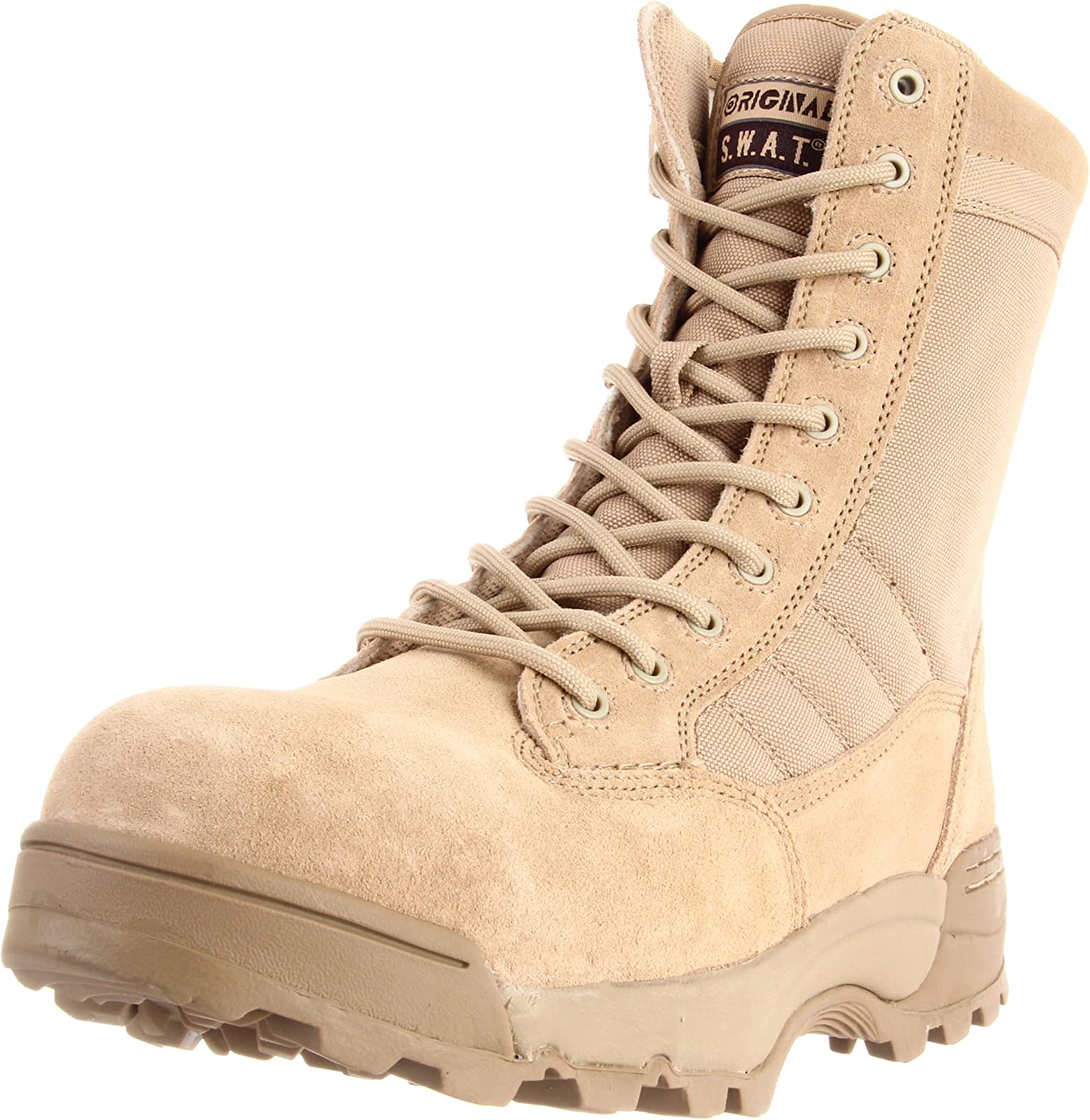 Original S.W.A.T. Men's Classic 9 Inch Side-zip Safety Tactical Boot, Tan, 10.5 D US