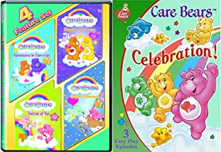 Care Bears 3-Pack - Celebration (3- Easy Play Episodes) & Care Bears 4-Feature Films Set 3-DVD Bundle