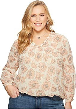 Plus Size Exploded Floral Top