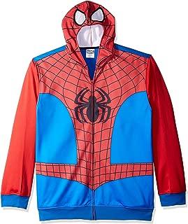 Men's Spiderman Character Zip Front Hoodie