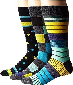 Steve Madden - 3-Pack Fashion Crew Socks