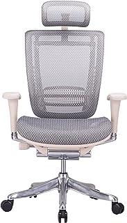 GM Seating Enklave XL Gray Mesh Executive Hi Swivel Chair Chrome Base with Headrest,