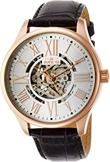 Invicta 22569 - Reloj analógico automático para hombre, diseño clásico, color café y dorado rosa