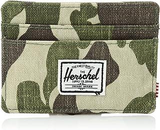 Herschel Supply Charlie Leather RFID Blocking Card Holder Wallet Billetera Tipo Tarjetas Unisex