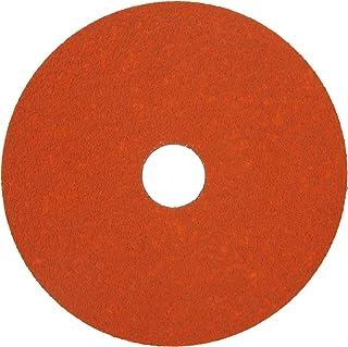 "Norton SG Blaze F980 Abrasive Disc, Fiber Backing, Ceramic Aluminum Oxide, 7/8"" Arbor, 4-1/2"" Diameter, Grit 120 (Pack of 25)"