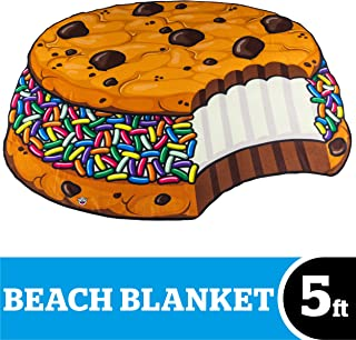 BigMouth Inc Beach Blanket, Oversized Beach Towel, Ulta-Soft Microfiber Towel, Washing Machine Friendly