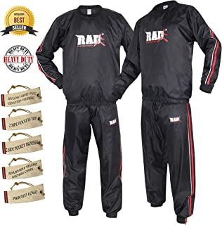 RAD Heavy Duty Sweat Suit Sauna Exercise Gym Suit Fitness, Weight Loss, AntiRip