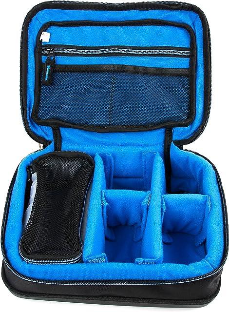 DURAGADGET Bolsa Acolchada Profesional Negra con Compartimentos para Cámara compacta Olympus TG-5 | TG-Tracker | TG-870 Tough