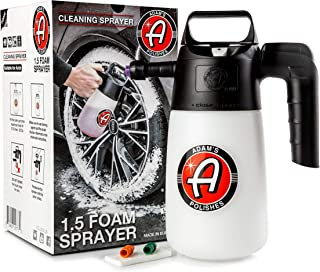 Adam's Foaming Pump Sprayer (35oz) - Pressure Foam Sprayer For Car Cleaning Kit, Car Wash, Car Detailing | Fill With Car Wash Soap Wheel Cleaner Tire Cleaner | Water Sprayer Lawn Garden Weed Sprayer