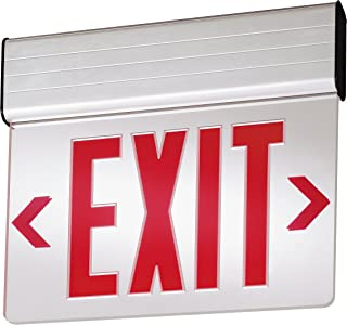Lithonia Lighting 1 R M6 Red Stencil Edge-Lit LED AC-Only Exit Sign,