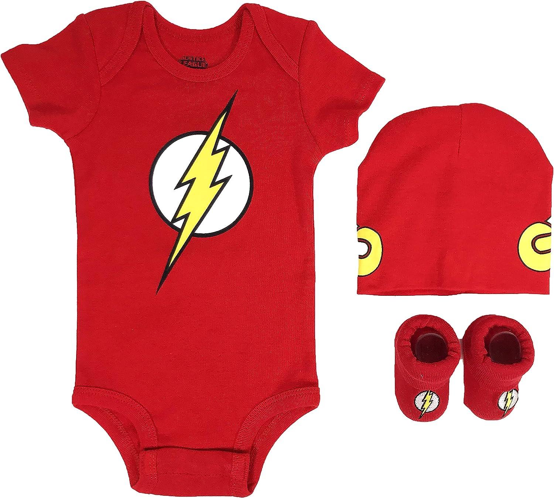 DC Comics Baby Boys Short Sleeve LL Flash 2 Piece Cotton Infant