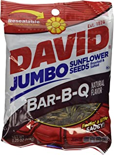 David BBQ Sunflower Seeds, 5.25 oz, (2 packs) Roasted and Salted