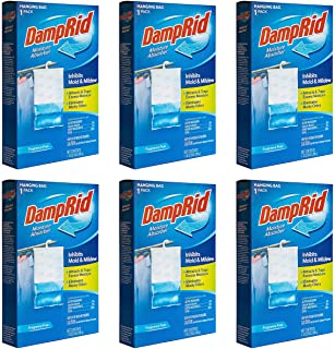 DampRid Fragrance Free Hanging Closet Moisture Absorber, 6 Pack, Inhibits Mold and Mildew, 6 Count