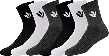 Fresh Feet Organic Cotton Odour Free Mid-Calf Socks - Value for Money Pack (6 Pairs)
