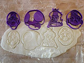 Cookie cutter of Mario Bros and his friends Luigi, Toad and Princess Peach
