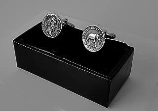Golden Artifacts Marcus Aurelius, Philosopher King, Roman Coins, Coin Cuff Links, Roman Empire (26C-S),