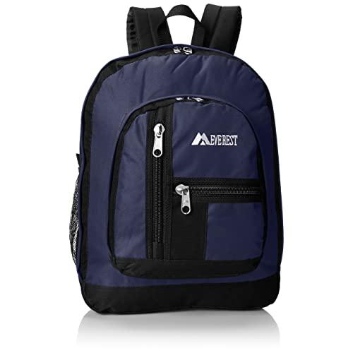 6e7a3cd16 Everest Double Main Compartment Backpack, Navy, One Size
