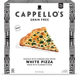 Cappello's, White Pizza with Spinach & Caramelized Onion, 10.85 Ounce