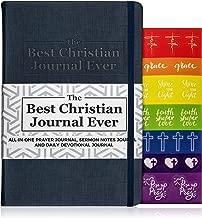 Prayer Journal for Women & Men. Christian Notebook with Sermon Notes, Daily Devotional Scripture, Bible Study Verse Workbook. Spiritual Devotionals for Journaling. Christian Gifts for Women & Kids.