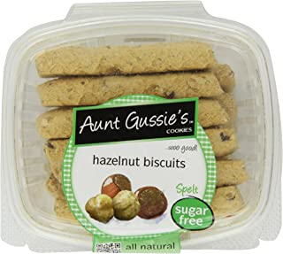 Aunt Gussie's Sugar Free Hazelnut Biscotti, 8-Ounce Tubs (Pack of 4)