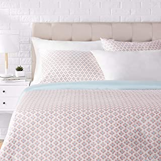 AmazonBasics Super-Soft Cotton Duvet Cover Set - Full/Queen, Multicolored Medallion