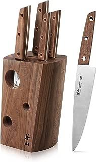 Cangshan W Series 59960 6 Piece German Steel Knife Block Set, Walnut