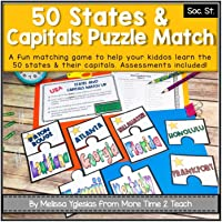 50 States & Capitals Puzzle Matching Game | Learn all 50 states