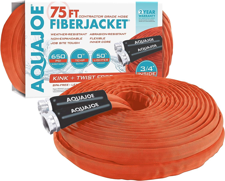 Aqua Joe AJFJH75-34-CTR Flexible Contracto FiberJacket Ranking TOP6 Kink-Free Max 63% OFF