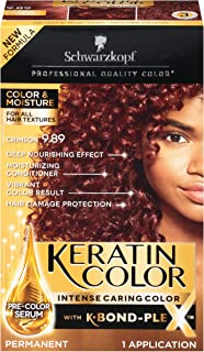 Schwarzkopf Keratin Color, Color & Moisture Permanent Hair Color Cream, 9.89 Crimson
