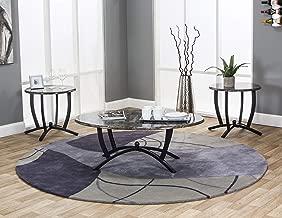 Sunset Trading Sierra Coffee & End Table Set, Black