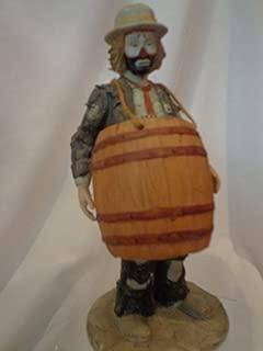 Emmett Kelly Over A Barrel Figurine, 11-1/2