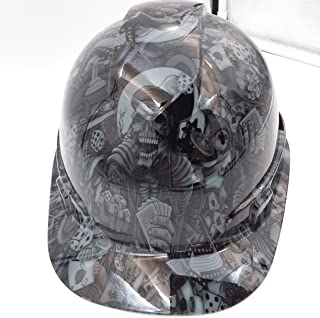 Wet Works Imaging Customized Pyramex Cap Style Gray Dealers Choice Hard Hat With Ratcheting Suspension