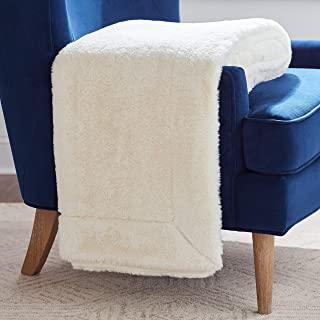 Rivet Faux Fur Throw Blanket, Soft and Stylish, 80