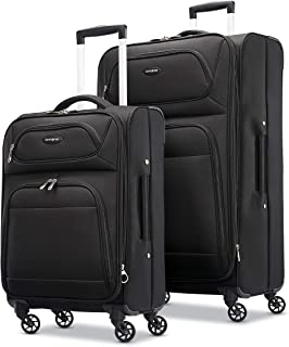 Transyt Expandable Softside Luggage Set with Spinner Wheels, 2-Piece (20