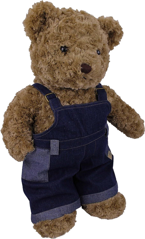 TEDDY HOUSE Teddybär kuschelig und anschmiegsam Toby Bär in braun mit Jeanshose (Teddy & Jeanshose 45 cm 18 ) B079MHGYHY Preiszugeständnisse     | Creative