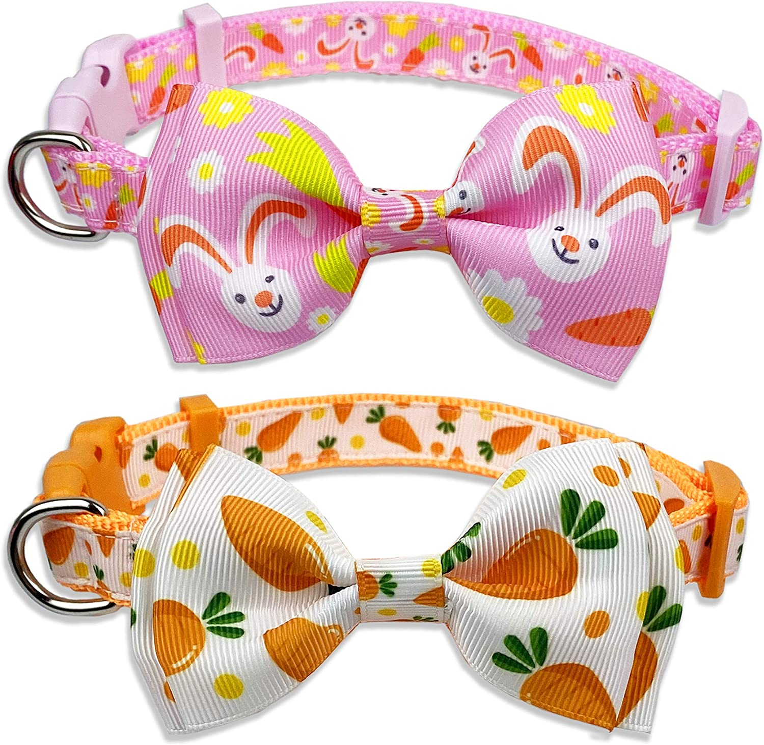 Easter Directly managed store Dog Collar with Bow for Holiday Carrot Bunny Fixed price for sale Tie