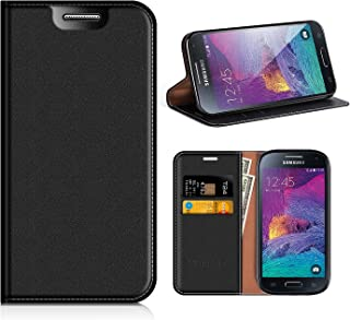 Samsung Galaxy S4 Mini Wallet Case, Mobesv Samsung S4 Mini Leather Case/Phone Flip Book Cover/Viewing Stand/Card Holder for Samsung Galaxy S4 Mini, Black