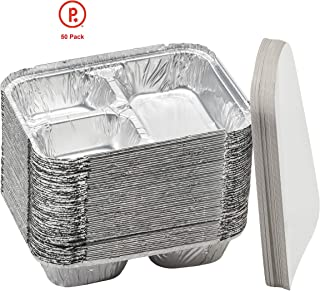 3 compartment aluminum trays