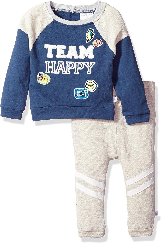 Rosie Pope Baby Boys Team Happy 2 Piece Set, Navy, 12M