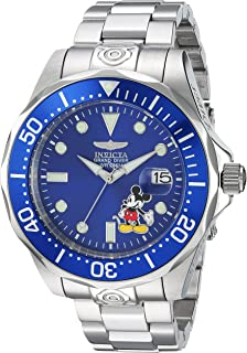 Invicta Men's Disney Limited Edition Automatic-self-Wind Diving Watch with Stainless-Steel Strap, Silver, 22 (Model: 24497