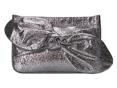 Loeffler Randall Cecily Bow Clutch (Silver) Clutch Handbags
