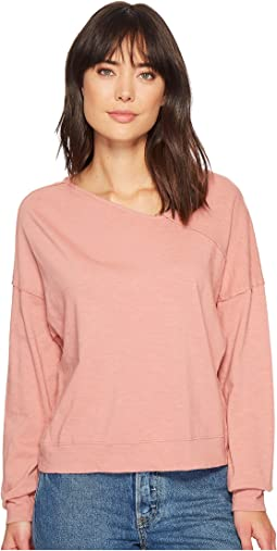Splendid Asymmetrical Neck Pullover