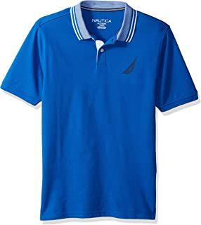 Nautica Little Boys' Short Sleeve Solid Deck Polo with Tipped Collar