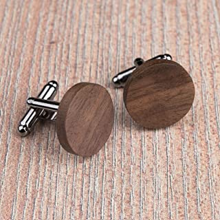 Wedding groomsmen groom gifts Multicolor Zebrano Wood Rounded Square Wood Cufflinks and Tie Clip Set Exclusive Boss gift Engraved jewelry for men Custom personalized initial monogram men gift